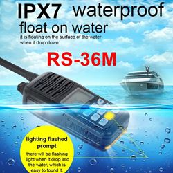 2016 NEW Float Marine Radio Walkie Talkie RS36M 80CH IP-X7 Waterproof Intercom