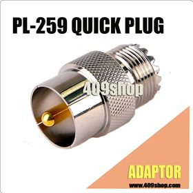 Picture of PL259 to SO239 QUICK PLUG