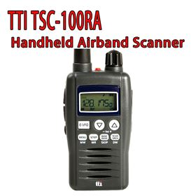 TTI TSC-100ra Handheld Radio Scanner Receiver Airband VHF Low Band Wfm/am/fm