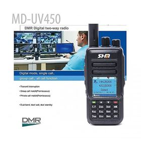 Picture of DMR two-way radio MD-UV450 with dual band uhf vhf radio as TYT MD-UV380