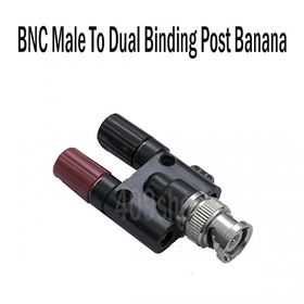 2pcs x BNC Male to Binding Post Banana Female Jack