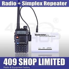 1 set BAOFENG UV5R WALKIE TALKIE + SIMPLEX REPEATER CONTROLLER WITH CABLE